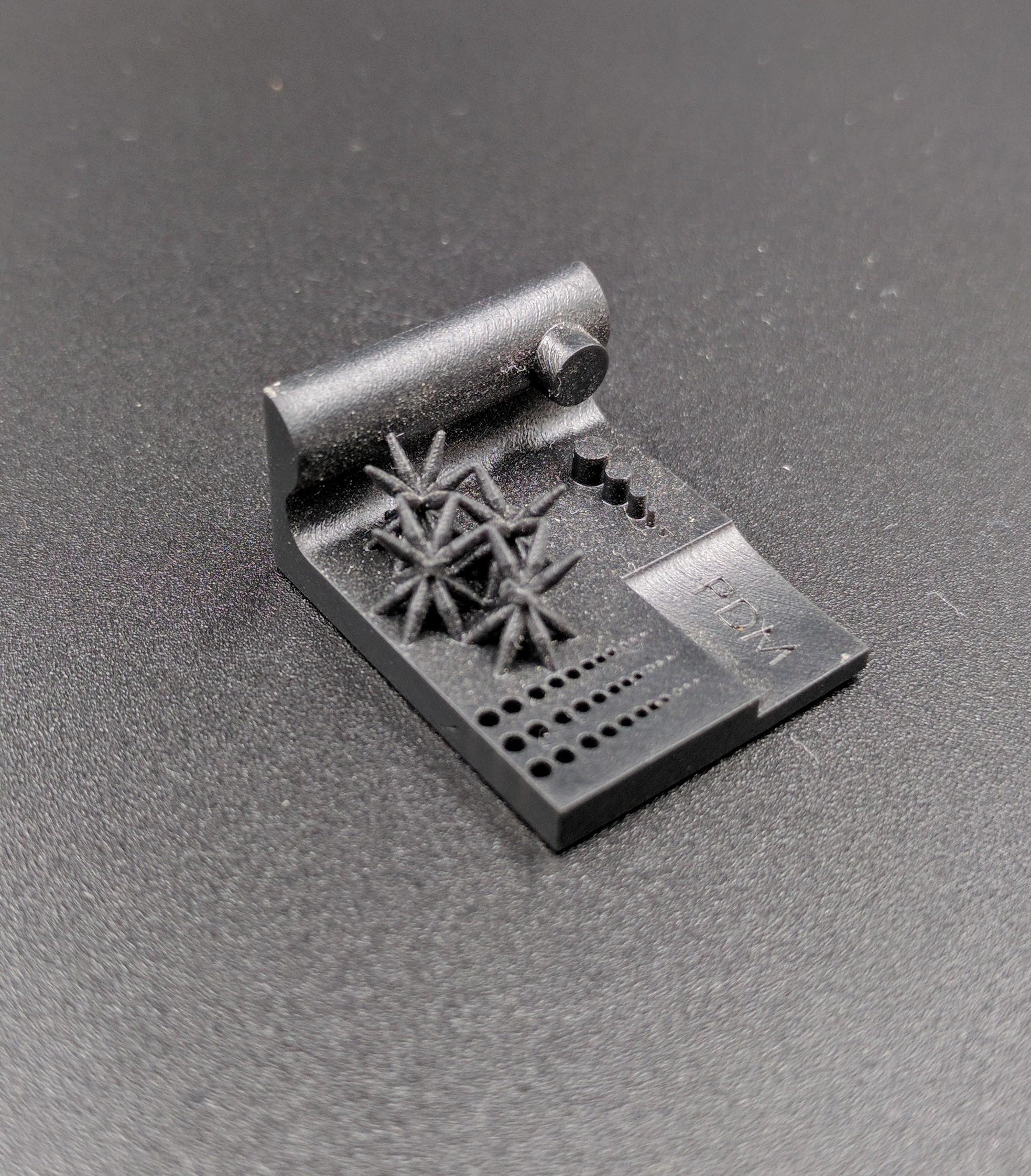 3D Printing SLA test print 3