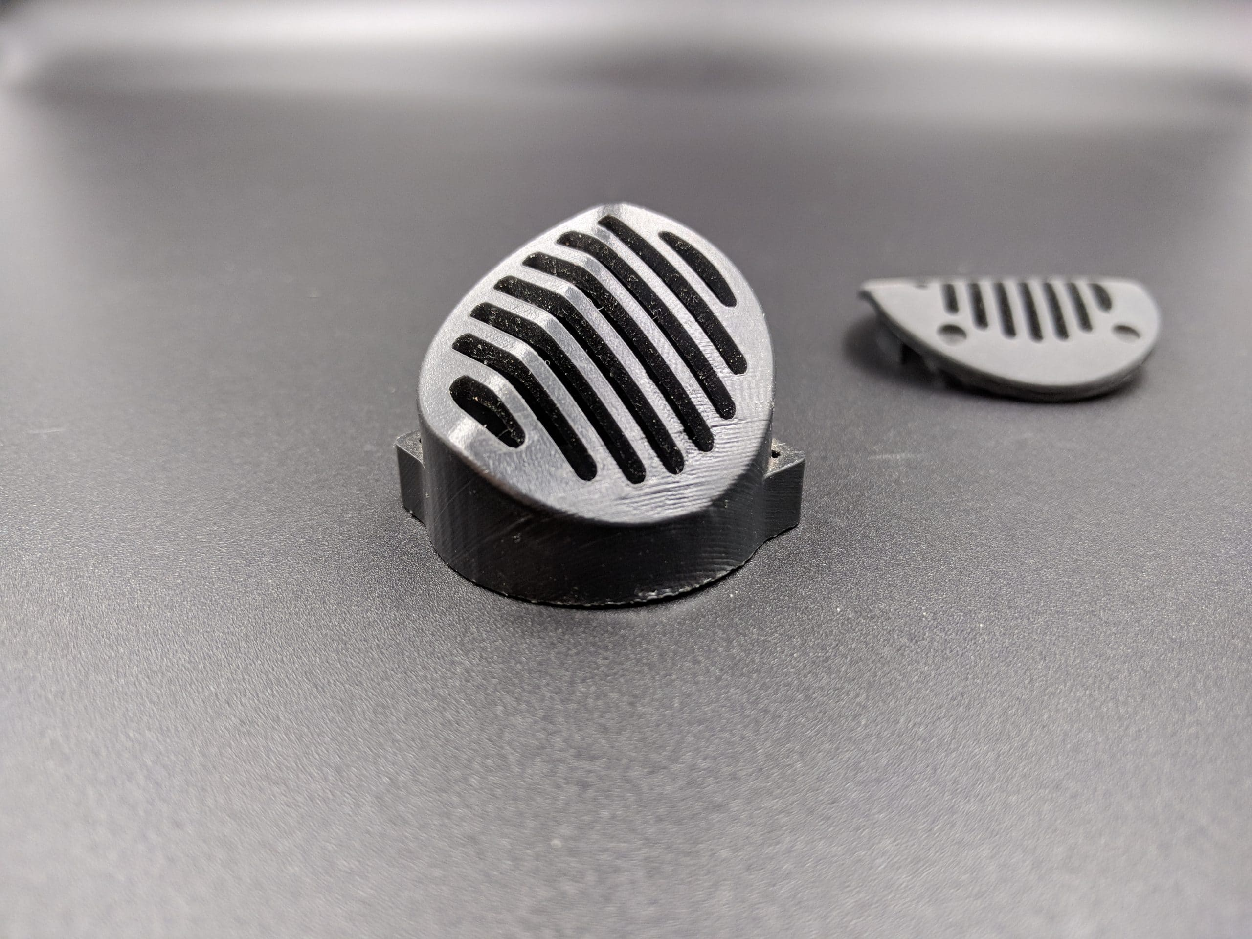 SLA Printed Black acrylic like raw surface