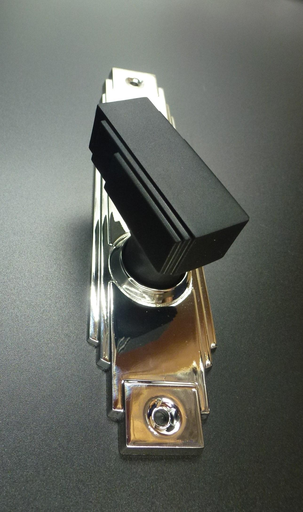 crome art deco door handle