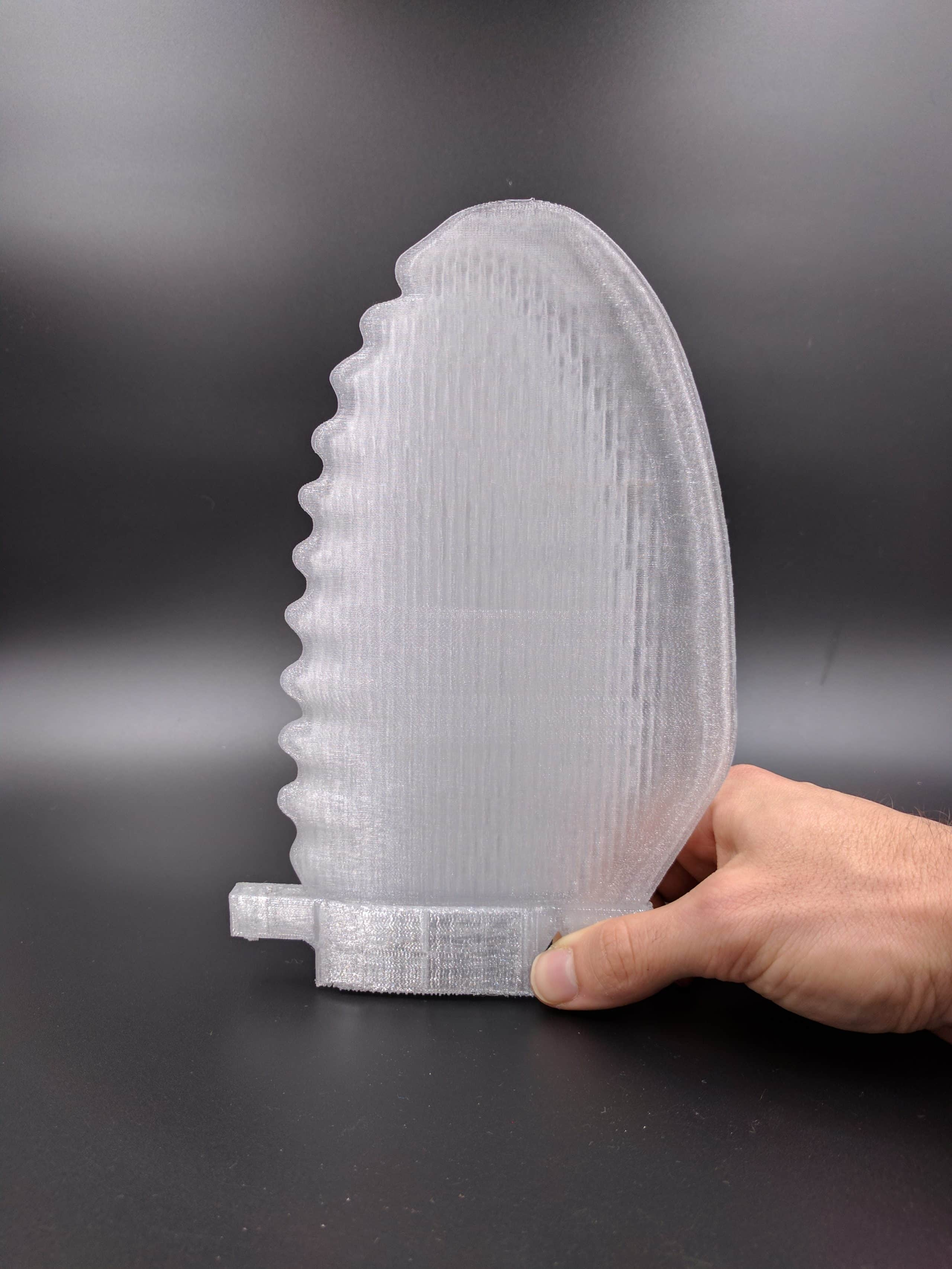 3D Printing FDM Translucent Polycarbonate PC Surfboard fin 4