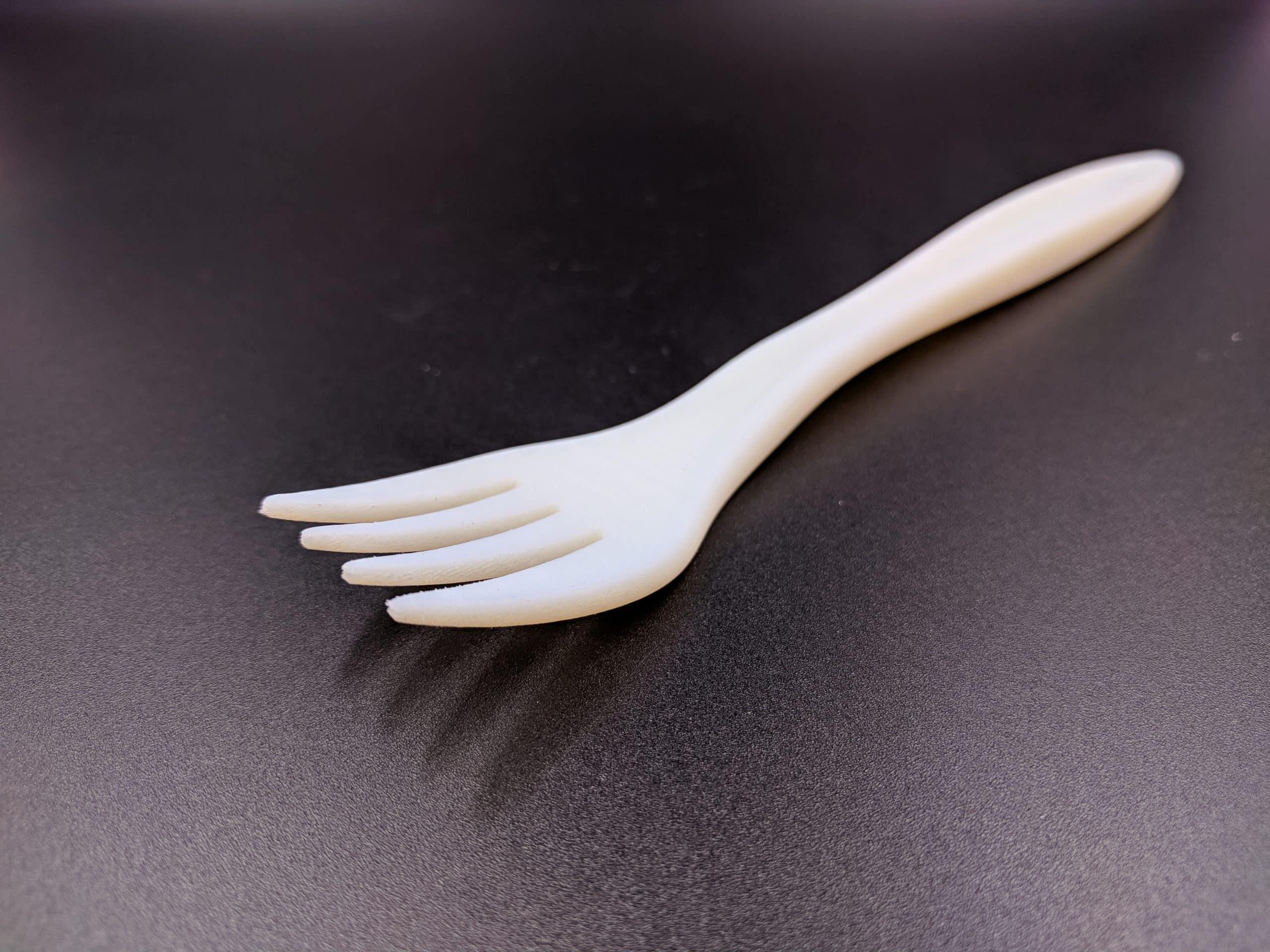 Polyjet fork polyprop-like matte surface finish